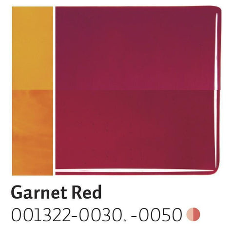 Garnet Red Transparent (1322) 2mm-1/2 Sheet-The Glass Underground