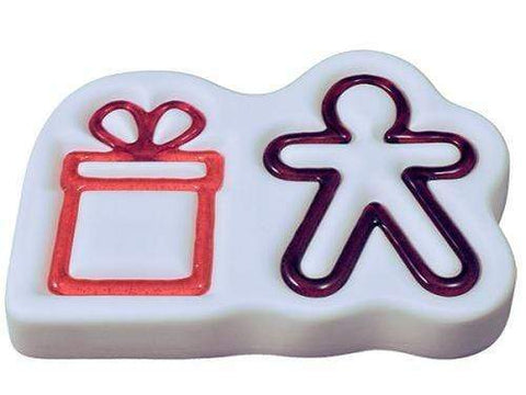 Gingerbread Man and Gift Ornaments Mold