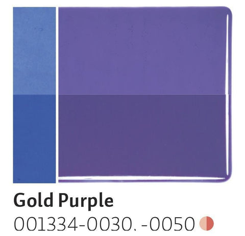 Gold Purple Transparent (1334) 2mm-1/2 Sheet-The Glass Underground