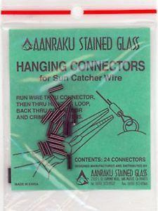 Hanging Connector Crimps for Suncatcher Wire-The Glass Underground