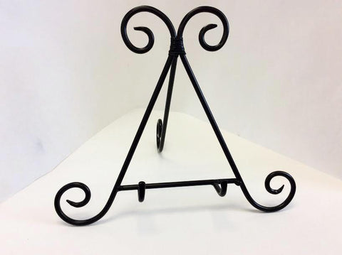 Iron Scroll Table Stand-The Glass Underground