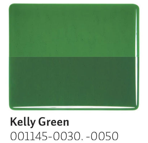 Kelly Green Transparent (1145) 2mm-1/2 Sheet-The Glass Underground