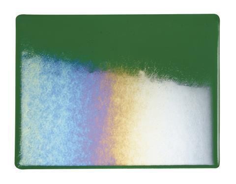 Kelly Green Transparent Irid (1145-31) Full Sheet Glass-The Glass Underground