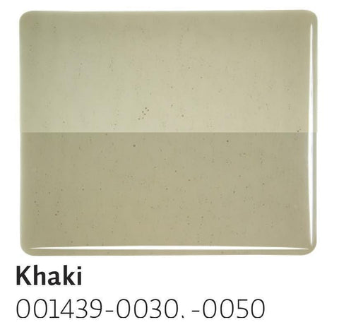Khaki Transparent (1439) 2mm-1/2 Sheet-The Glass Underground