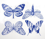 Large Butterfly Decals-Blue-The Glass Underground