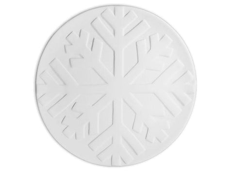 Large Snowflake Texture Plate-Default-The Glass Underground