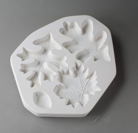 Leaves & Acorn Casting Mold-The Glass Underground