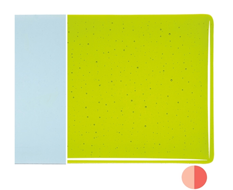Lemon Lime Green Transparent (1422) 3mm-1/2 Sheet-The Glass Underground