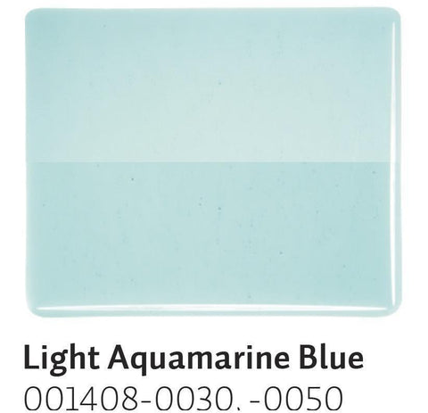Light Aquamarine Blue (1408) 2mm-1/2 Sheet-The Glass Underground