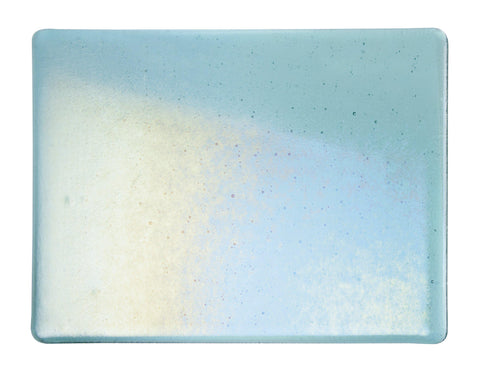 Light Aquamarine Blue Transparent Irid (1408-31) 3mm-1/2 Sheet-The Glass Underground