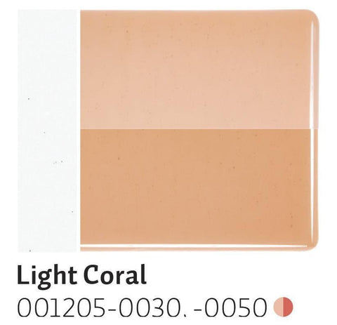 Light Coral Transparent (1205) 2mm-1/2 Sheet-The Glass Underground