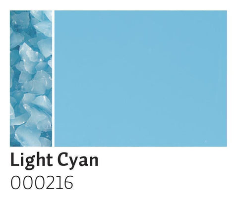 Light Cyan Opal Frit (216)-5 lbs.-Coarse-The Glass Underground