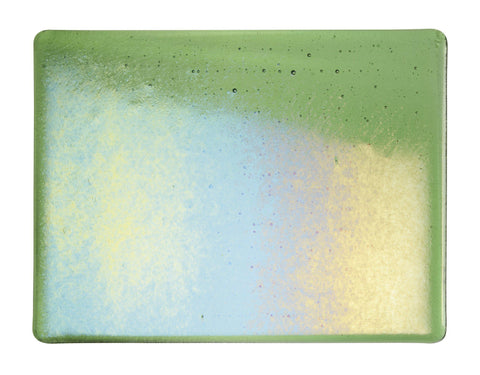 Light Green Transparent Irid (1107-31) 3mm-1/2 Sheet-The Glass Underground