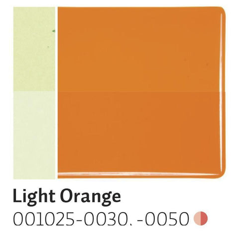 Light Orange Transparent (1025) 2mm-1/2 Sheet-The Glass Underground