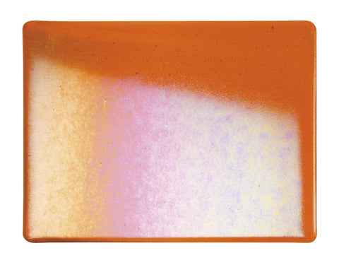 Light Orange Transparent Irid (1025-31) 3mm-1/2 Sheet-The Glass Underground