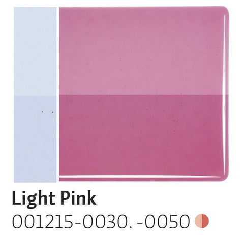 Light Pink Transparent (1215) 2mm-1/2 Sheet-The Glass Underground