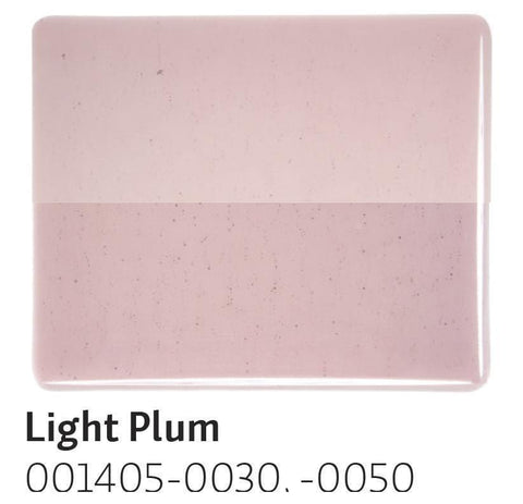 Light Plum Transparent (1405) 2mm-1/2 Sheet-The Glass Underground