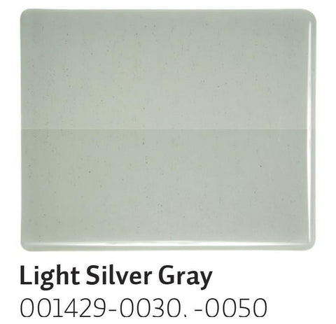 Light Silver Gray Transparent (1429) 2mm-1/2 Sheet-The Glass Underground