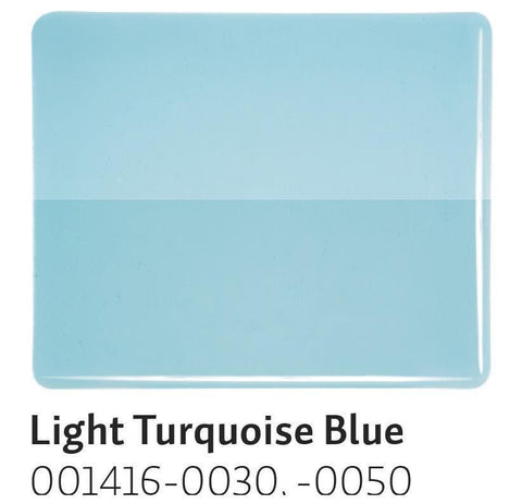 Light Turquoise Blue Transparent (1416) 2mm-1/2 Sheet-The Glass Underground