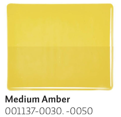 Medium Amber Transparent (1137) 2mm-1/2 Sheet-The Glass Underground