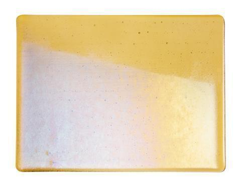 Medium Amber Transparent Irid (1137-31) Full Sheet Glass-The Glass Underground