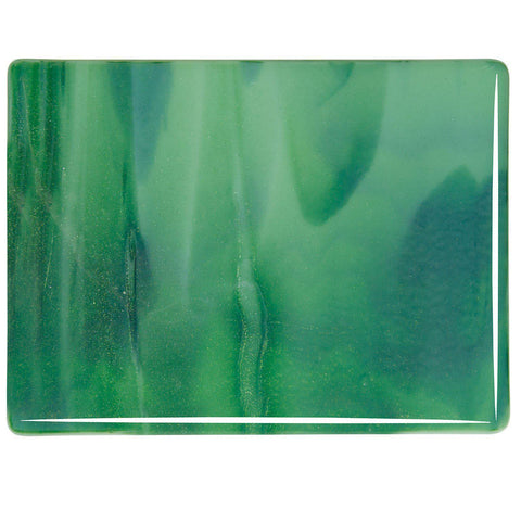 Mint Opal, Deep Forest Green Streaky (2112) 3mm-1/2 Sheet-The Glass Underground