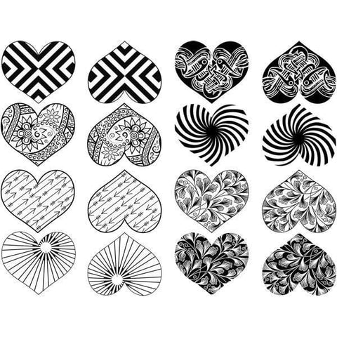 Modern Heart Decals-Mica White-The Glass Underground