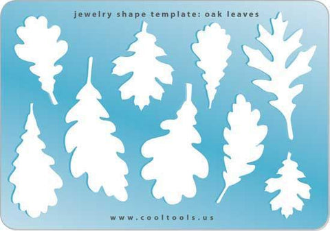 Oak Leaves Shape Template-The Glass Underground