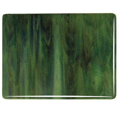Olive Green Opal, Forest Green, Deep Brown Streaky (3212) 3mm-1/2 Sheet-The Glass Underground