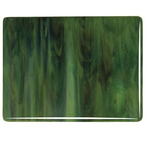 Olive Green Opal, Forest Green, Deep Brown Streaky (3212) Full Sheet Glass-The Glass Underground