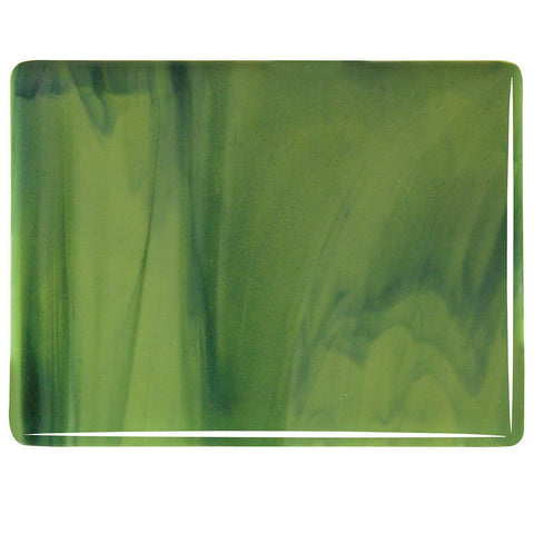Olive Green Opal, Forest Green Streaky (2212) 3mm-1/2 Sheet-The Glass Underground
