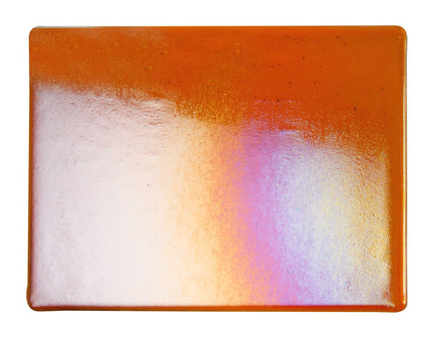 Orange Transparent Irid (1125-51) 2mm-1/2 Sheet-The Glass Underground
