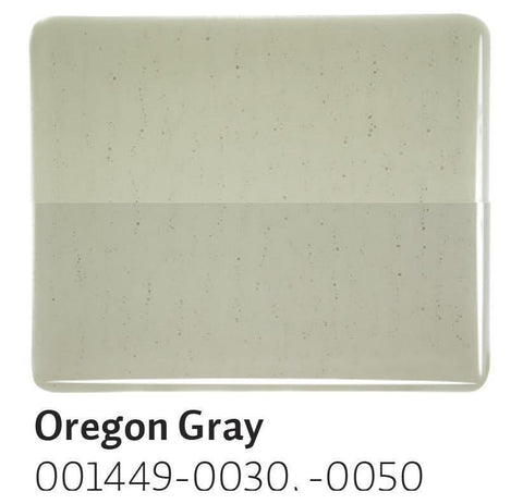 Oregon Gray Transparent (1449) 2mm-1/2 Sheet-The Glass Underground