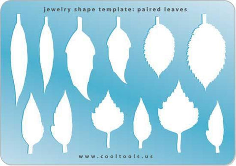 Paired Leaves Shape Template-The Glass Underground