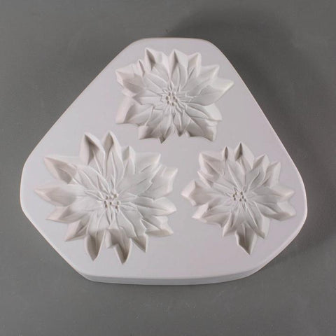Poinsettia Ornaments Mold-The Glass Underground