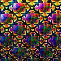 Puzzle Mix Dichro on Black 2mm-The Glass Underground