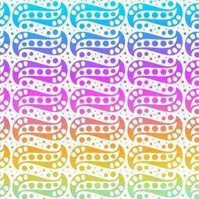 "Rainbow Osmosis Patterned Dichro on Clear-4"" x 4""-The Glass Underground"