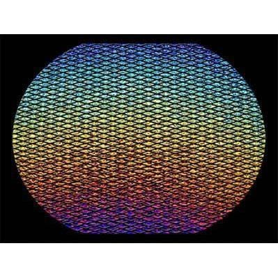 "Rainbow Ripple Marquis on Black 3mm-4"" x 4""-The Glass Underground"