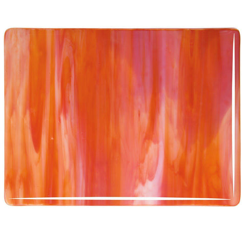 Red Opal, White Streaky (2124) 3mm-1/2 Sheet-The Glass Underground