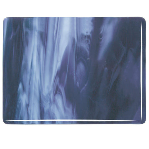 Royal Purple, Powder Blue Opal Streaky (2128) 3mm-1/2 Sheet-The Glass Underground