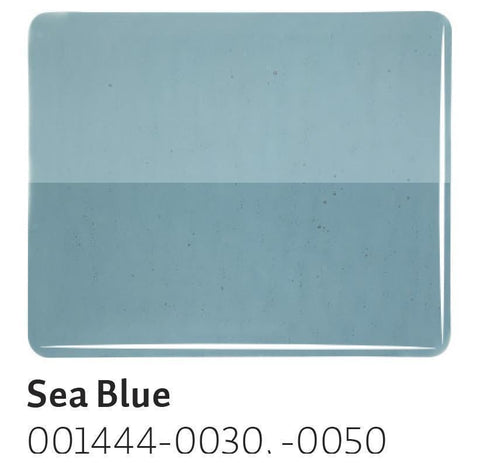 Sea Blue Transparent (1444) 2mm-1/2 Sheet-The Glass Underground