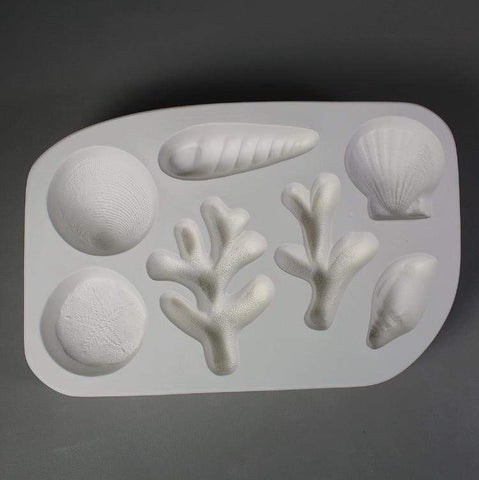 Shells and Coral Casting Mold-The Glass Underground