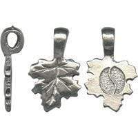 Small Leaf Bails Antique Pewter-The Glass Underground