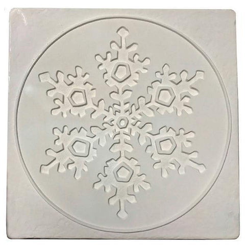 Snowflake in Square Texture Mold-The Glass Underground
