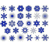 Snowflakes Decals-Blue-The Glass Underground