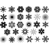Snowflakes Decals-White Mica-The Glass Underground
