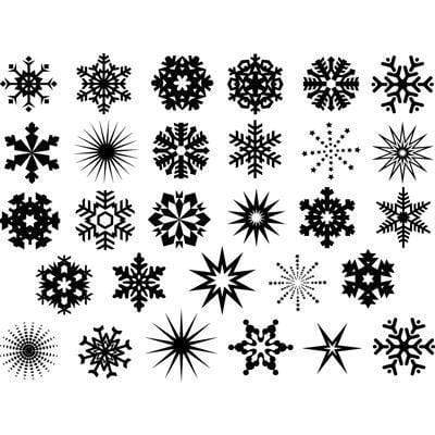 Snowflakes Decals-The Glass Underground