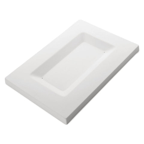 Soft-Edged Platter Long (8962)-The Glass Underground