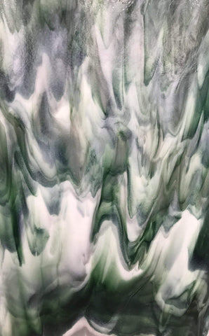 Special Green & White Streaky (3001B) 3mm-1/2 Sheet-The Glass Underground