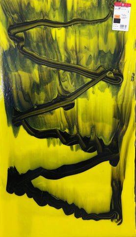 Special Yellow Black Graffiti (2002H) 3mm-1/2 Sheet-The Glass Underground